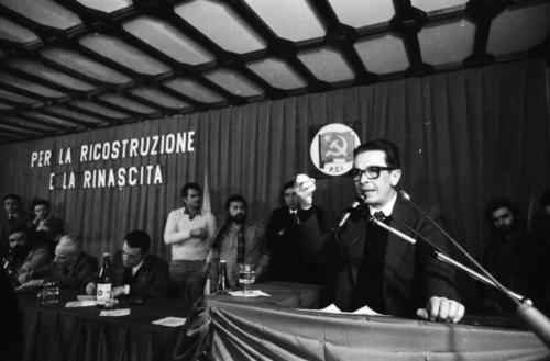 1980.11.23   9   L'Assemblea dei quadri a Salerno del 28 novembre che segna la Svolta per l'Alternativa Democratica   Foto Mario Riccio
