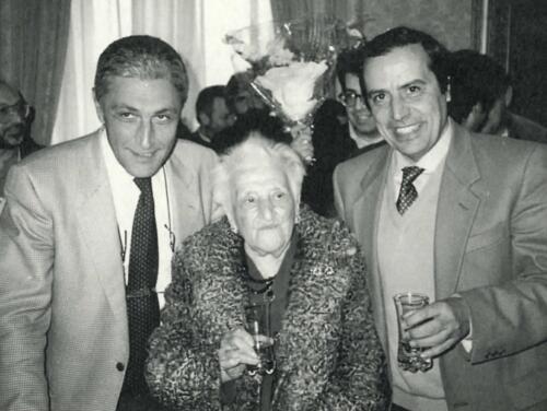 Vera Lombardi tra Antonio Bassolino e Guido D'Agostino